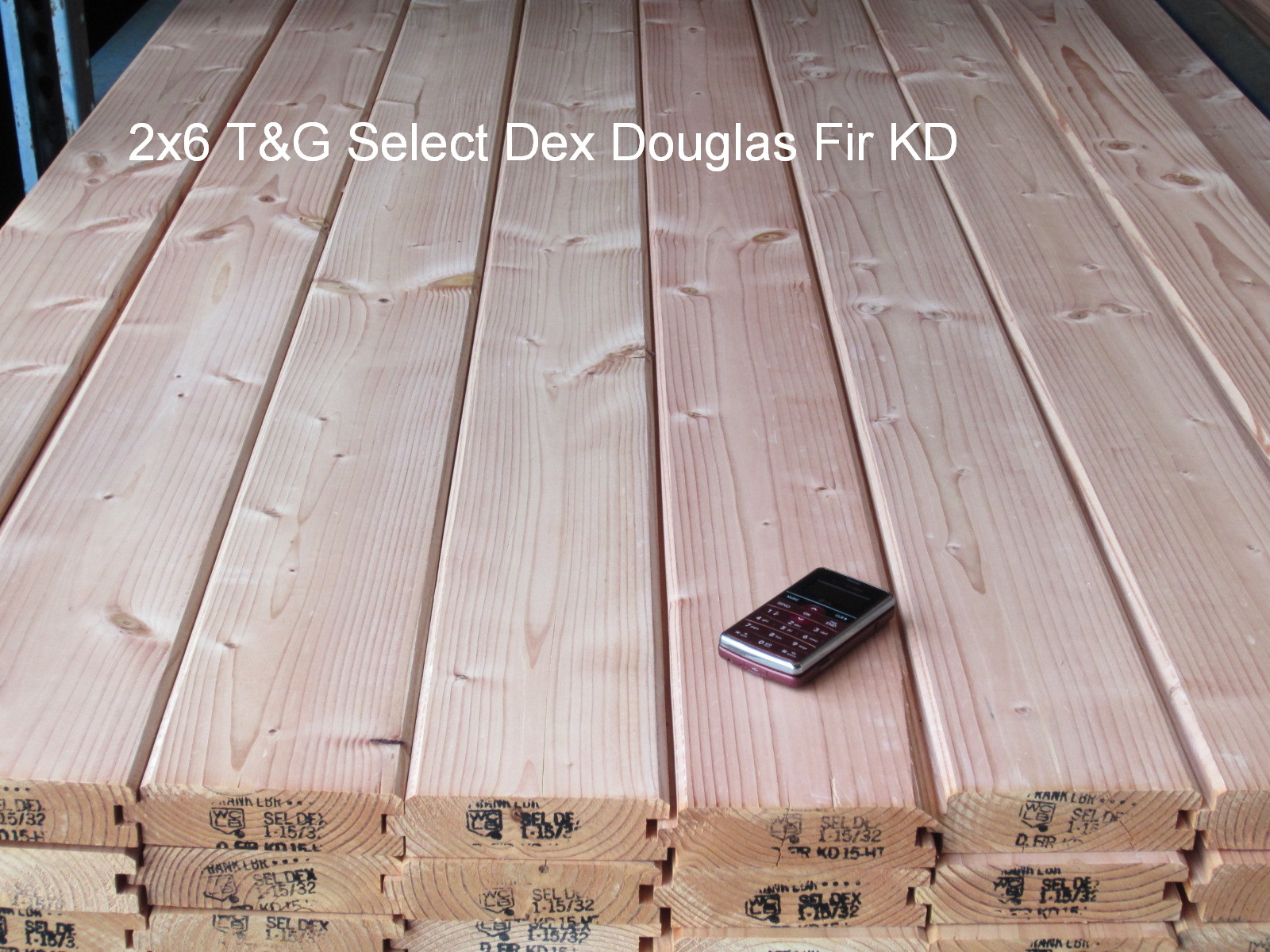 Douglas fir timbers and lumber grade pictures for T g roof decking